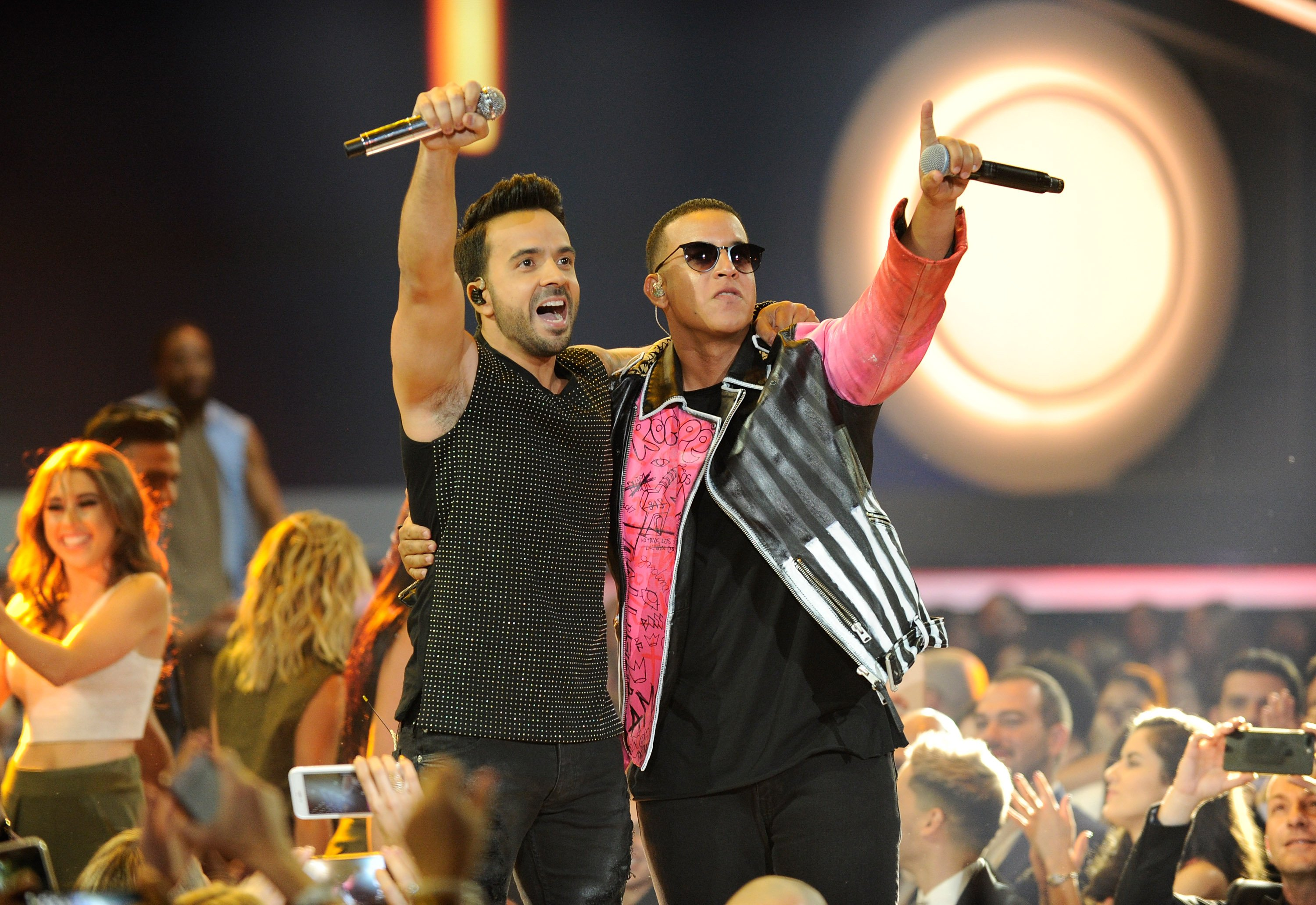Luis Fonsi and Daddy Yankee perform onstage at the Billboard Latin Music Awards at Watsco Center on April 27, 2017 in Coral Gables, Fla.