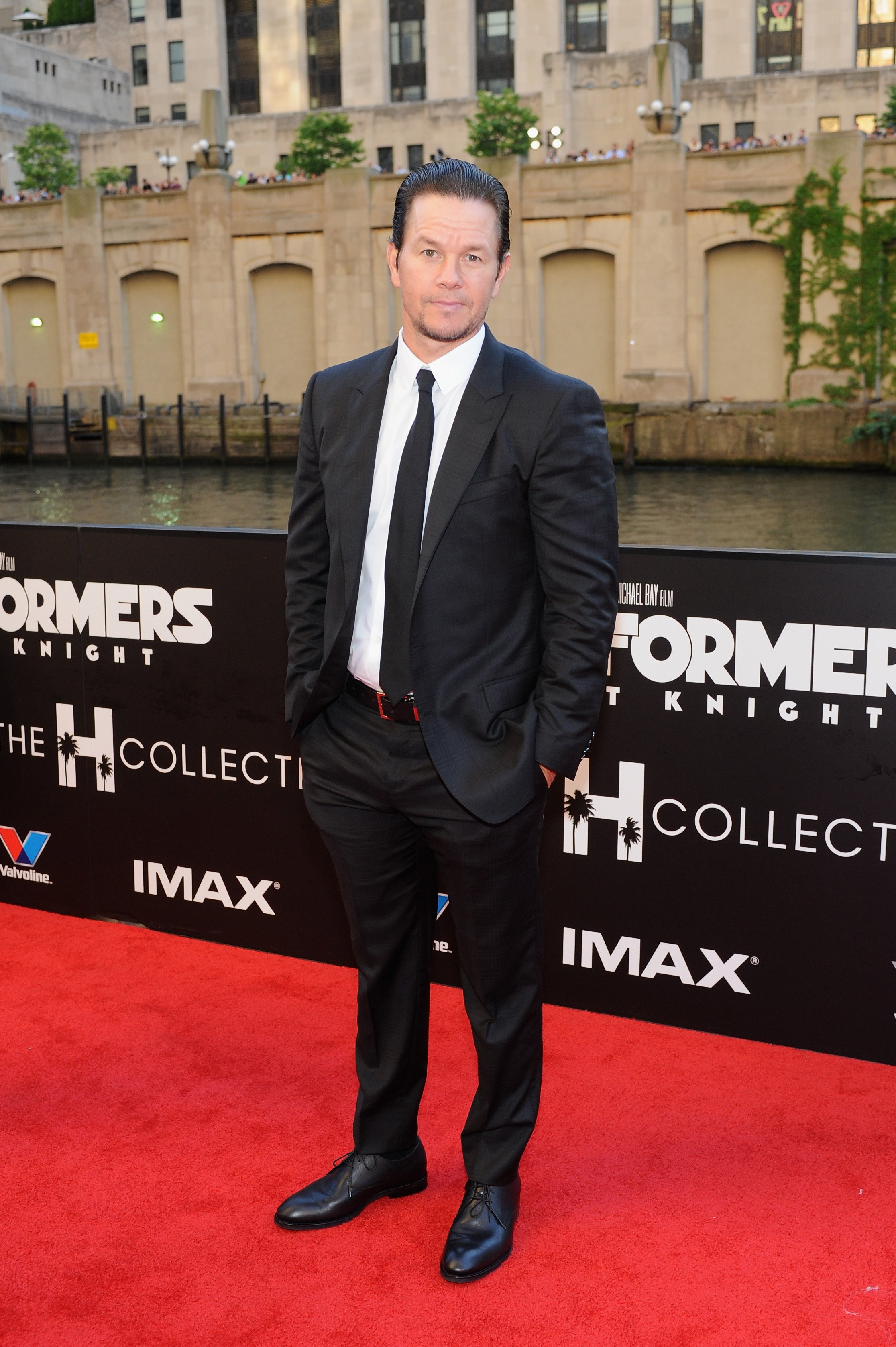 Mark Wahlberg attends the U.S. premiere of 'Transformers: The Last Knight' at the Civic Opera House on June 20, 2017 in Chicago