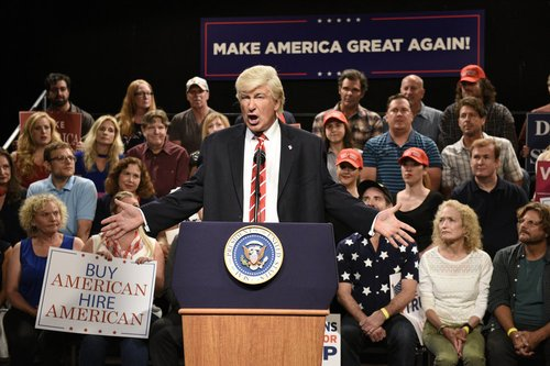 Alec Baldwin portrays President Donald Trump on 'Weekend Update: Summer Edition' on Aug. 24, 2017