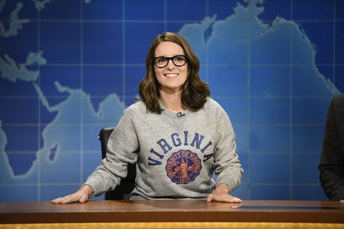 Tina Fey returns to the 'Weekend Update' desk on August 17, 2017