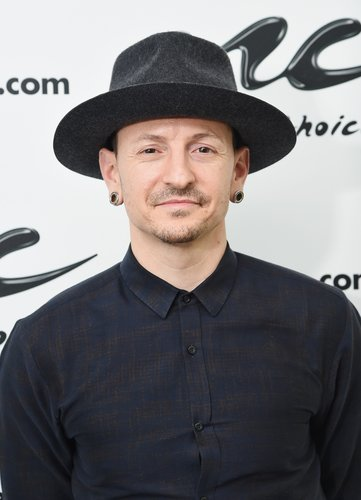 Chester Bennington of the band Linkin Park visits Music Choice at Music Choice Studios on February 21, 2017 in New York City