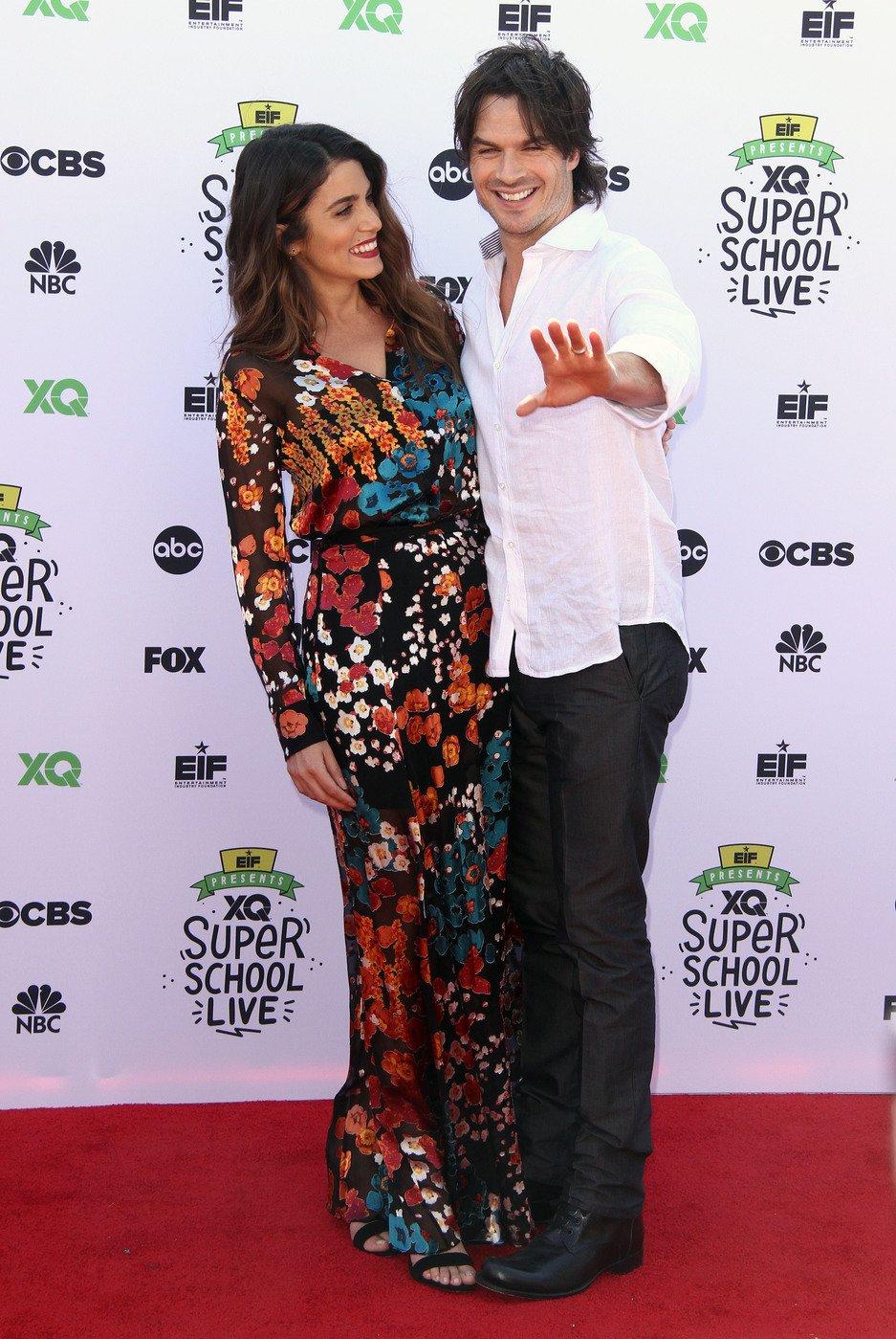 Nikki Reed and Ian Somerhalder attend Super School Live in Los Angeles on Sept. 8, 2017