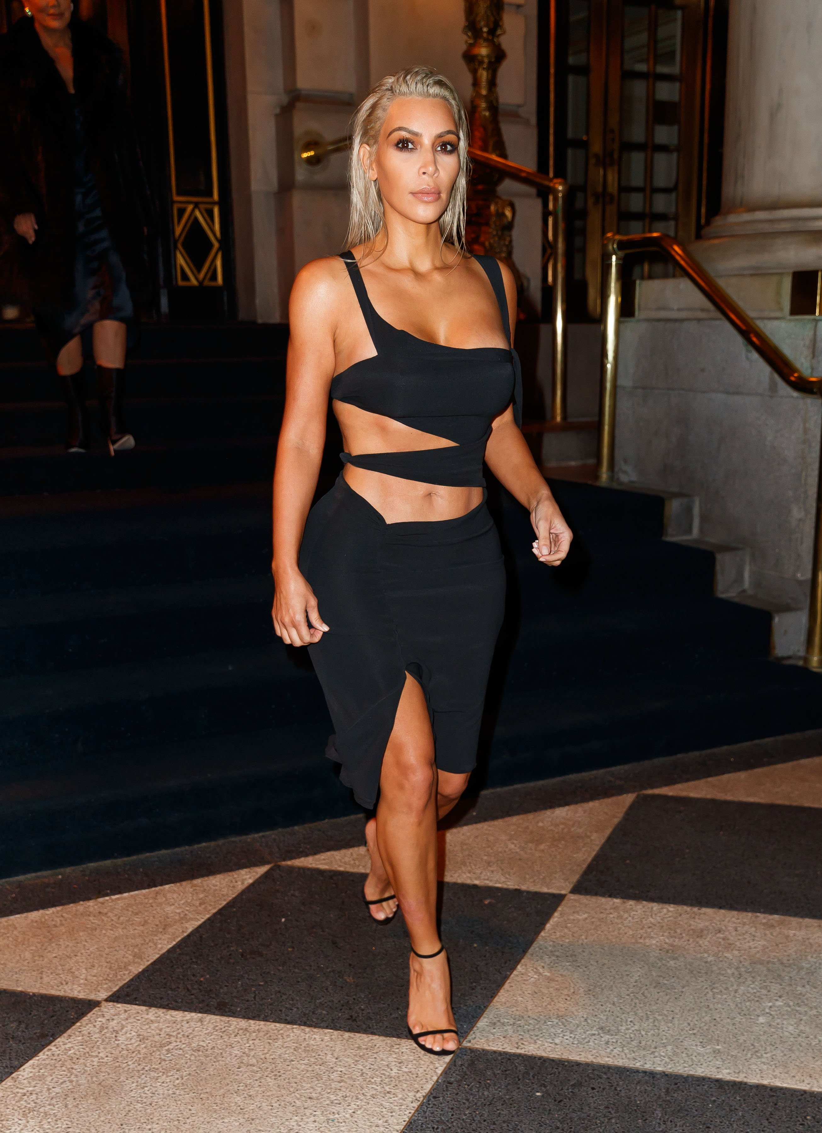 Kim Kardashian Hits NYFW Party