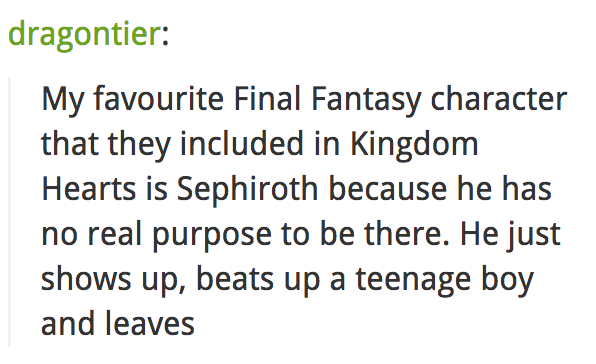 Oh yeah, Final Fantasy characters are there.