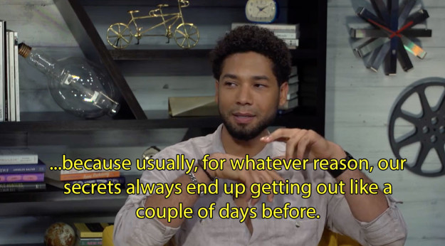 Smollett was glad — and shocked, tbh — that the reveal has remained under wraps.