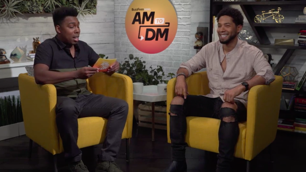 And it's definitely, probably going to be worth the wait because Smollett couldn't stop cheesin' as he teased the reveal.
