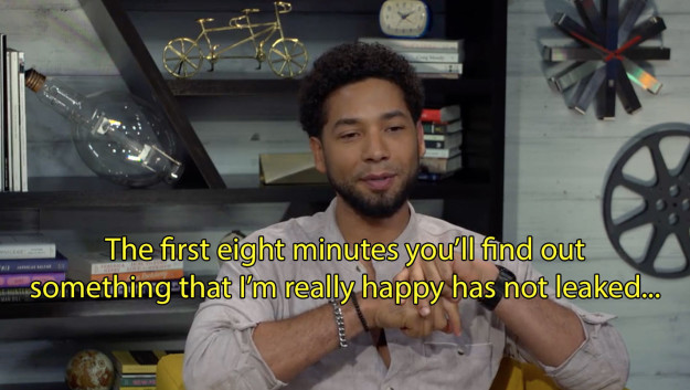 Although Smollett was reluctant to disclose specific details, he did say there would be a big reveal in the first eight minutes of the season premiere.