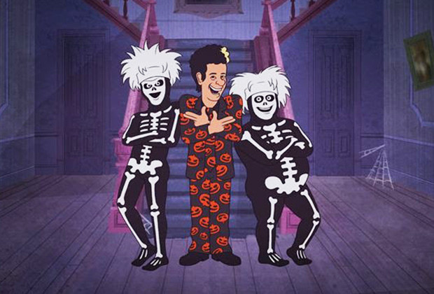 Well, guess what? There's gonna be an actual David S. Pumpkins Halloween special this year.