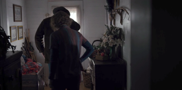 Now, notice the doorway of the Ives house as Hopper and Joyce leave.