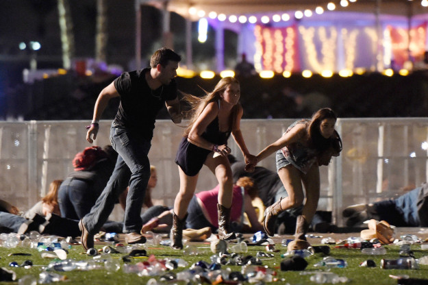 On Sunday night, a gunman killed 58 people and injured at least 515 people in Las Vegas during a open-air country music event. Stephen Paddock, who police have identified as the shooter, opened fire from the 32nd floor of Mandalay Bay hotel onto crowds at the Route 91 Harvest festival.