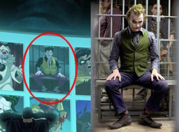 There's also a reference to Heath Ledger's Joker in the 2016 animated adaptation of The Killing Joke.