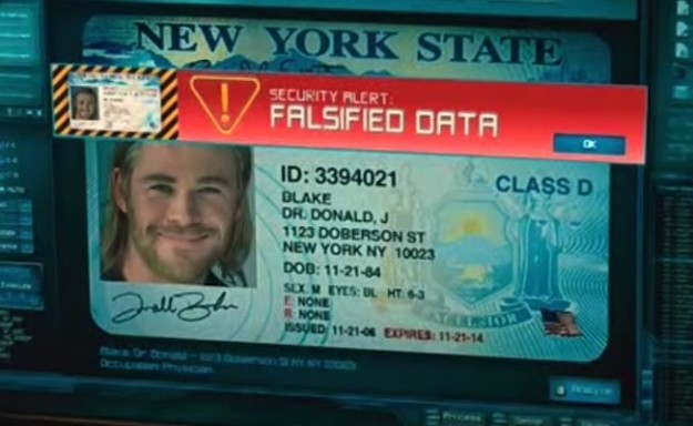 In Thor, Thor's fake license is made out to a Dr. Donald J. Blake. In the comic books, Blake was created by Odin to serve as a human host for Thor's spirit.
