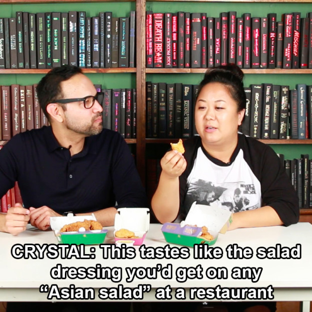 Both Brian and Crystal agreed that the sauce was a little thin, and kinda tasted like salad dressing.