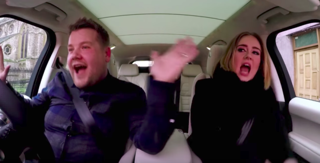 It's a regular segment on his late night show, where Corden drives around LA with a famous guest while singing a bunch of songs.