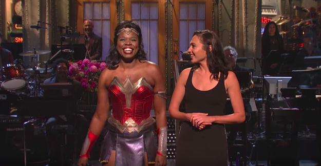 OKAY Y'ALL. We need to talk about something PRETTY DAMN SPECIAL that happened on last night's SNL: Leslie Jones as Wonder Woman.