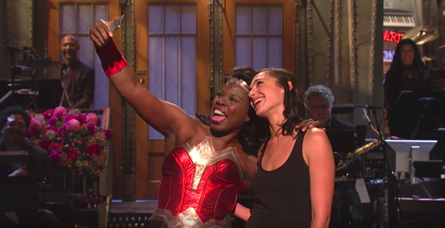 "Okay, TECHNICALLY Leslie was ""Times Square Wonder Woman"" — one of those actors who stands out on the street and charges you $$$ for selfies. But ya know what?"