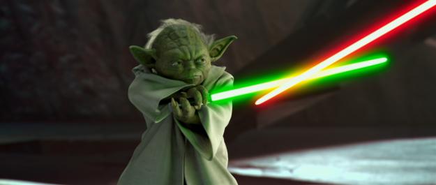 Yoda's badass fight scene.