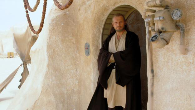 "Liam Neeson's portrayal of Qui-Gon ""Luscious Locks"" Jinn."