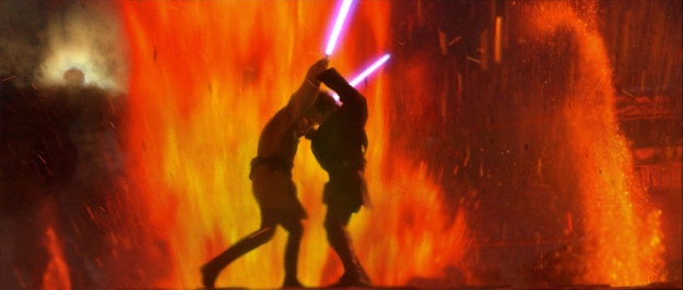 The dramatic, lava-fueled Mustafar duel.
