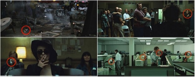 There is at least one Starbucks cup visible in every Fight Club scene.