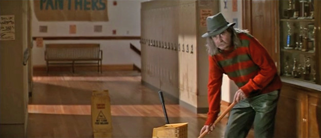 In Scream, Wes Craven cameos as the janitor wearing Freddy Krueger's sweater.