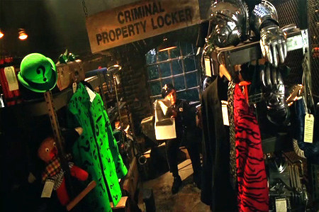 You can see the Riddler and Two-Face's costumes in Batman and Robin.