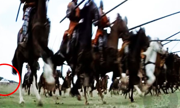 If you look closely, you can spot a car in Braveheart.