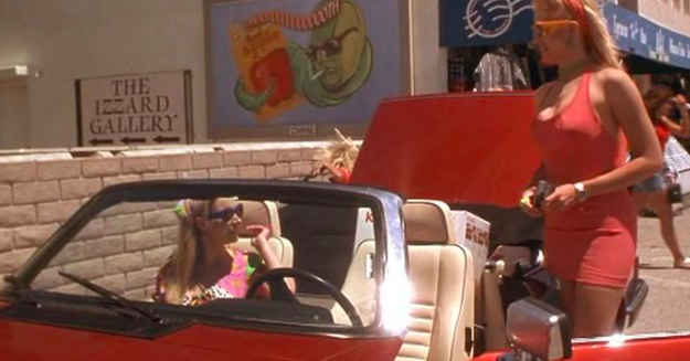 There's a billboard for Tarantino's fictional cigarette brand, Red Apple, in Romy and Michele's High School Reunion.