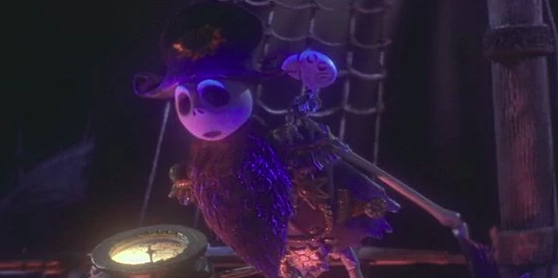 The pirates in James and the Giant Peach resemble Jack Skellington.