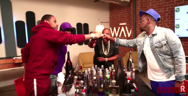 "Now, this probably wasn't done to invoke some sort of beef, because French Montana is an artist on Diddy's label, Bad Boy, and Fabolous was recently on Revolt TV's ""Drink Champs,"" where they hugged upon greeting one another. So yeah, all is probably well."